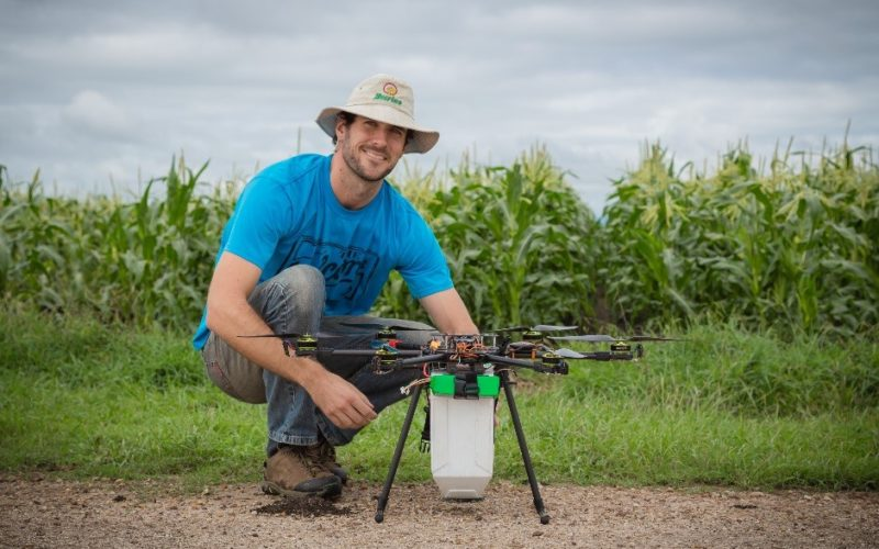 Drone to Spread Beneficial Bugs on Crop