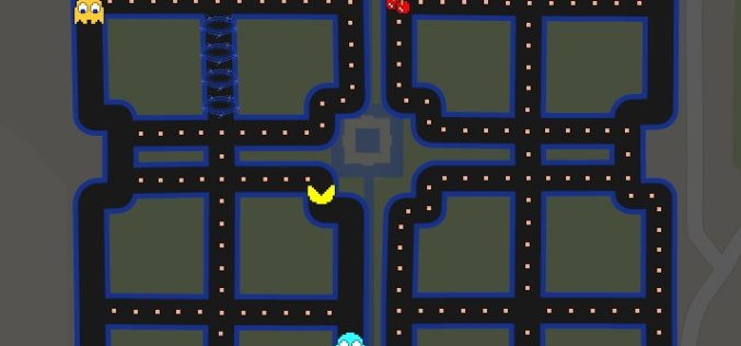 Play Pac Man with Google Maps on Your Streets