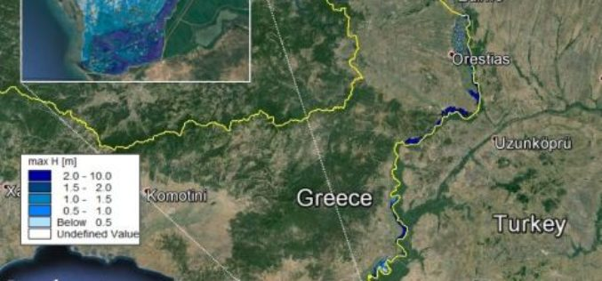 Conducting Flood Hazard and Risk Mapping For the Complex Evros River Basin