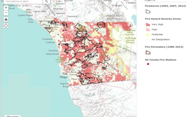 San Diego County Launch Web Based Wildfire Hazard Map Tool