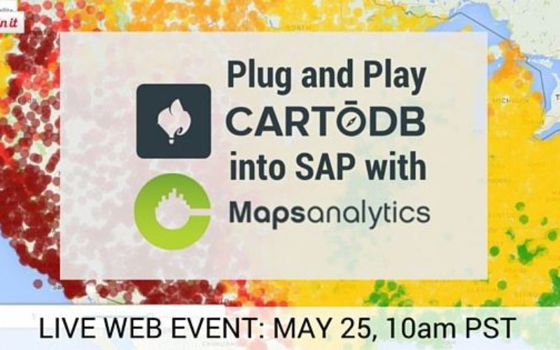 Webinar: Plug and Play CartoDB into SAP with CMaps Analytics
