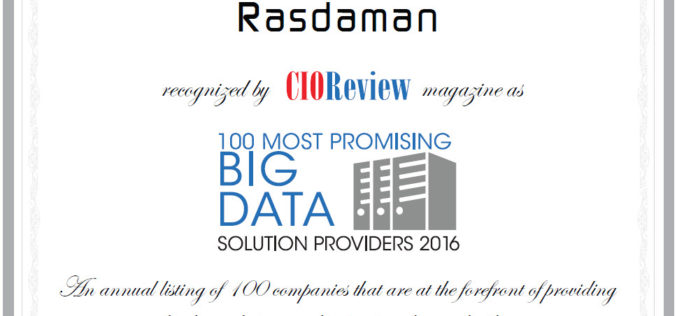 CIOReview Selected Rasdaman as One of the 100 Most Promising Big Data Solution Providers 2016