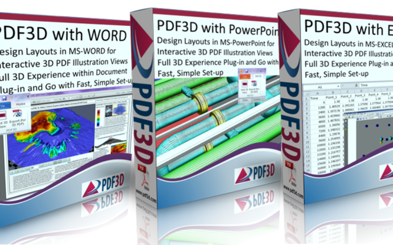 PDF3D Releases Microsoft OFFICE Enhancements with 3D Plugins