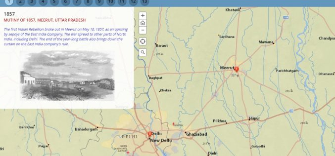 Milestone of Indian Freedom Movements Through Esri Story Map