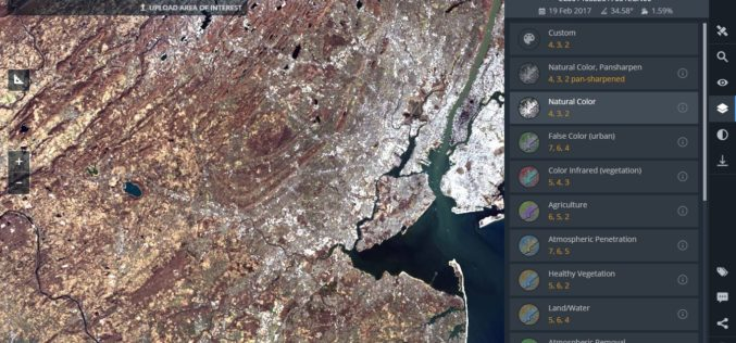 Land Viewer: On-the-Fly Earth Observation Imagery Analytics in Your Browser