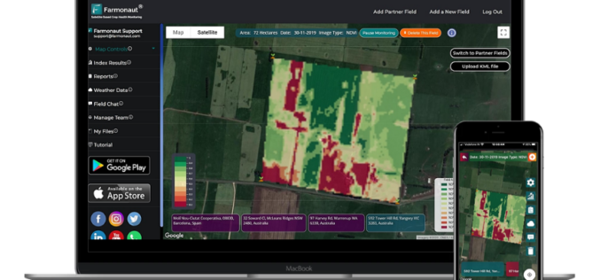 Satellite-Based Crop Health Monitoring System to Help Farmers
