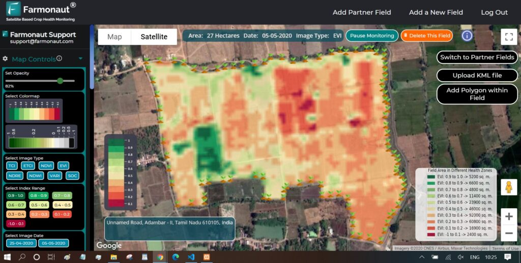 Farmonaut-Satellite-based-crop-health-monitoring-system-dashboard