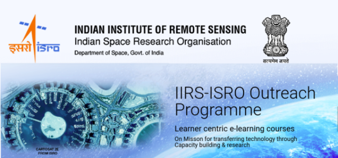 Register for IIRS Online Courses on Remote Sensing, GIS & GNSS Applications