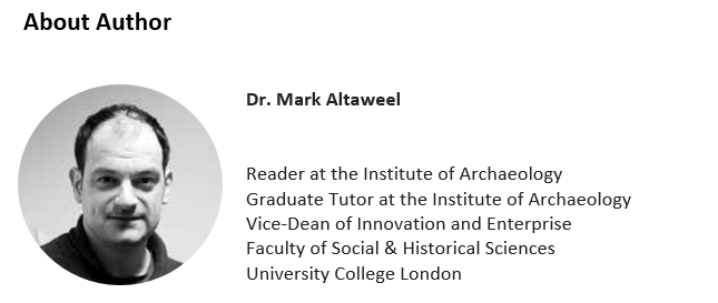 Dr. Mark Altaweel Vice-Dean of Innovation and Enterprise  Faculty of Social & Historical Sciences, UCL. Article on Career in GIS