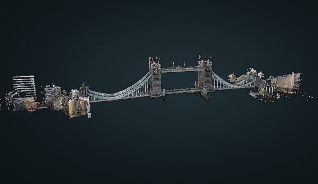 What is SLAM and Why SLAM Matters? -Tower Bridge, London, Captured with ZEB Discovery. Image Credit - GeoSLAM