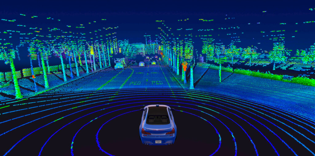 Velodyne Lidar Alpha Prime™ sensor provides real-time 3D vision that allows autonomous vehicles to see their surroundings.