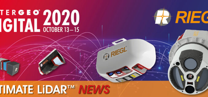 INTERGEO 2020 DIGITAL, October 13-15, 2020: RIEGL Presents Their New Products 2020