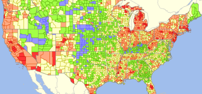 GIS Analytics Server of U.S. Federal Statistical Data