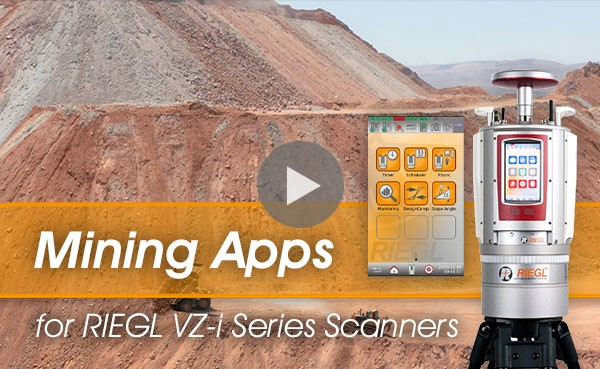 Mining Apps for RIEGL VZ-i Laser Scanners