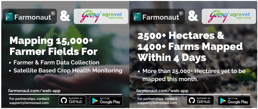 Farmonaut to Provide Its Services to Godrej Agrovet in Mapping