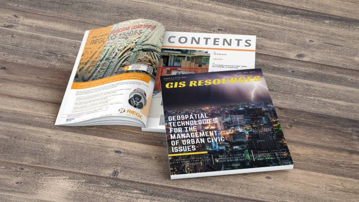 GIS Resources-Magazine-Jube-2021-Geospatial-technologies-for-the-magement-of-urban-civic-issues-cover-page