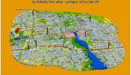 GIS-based System for Optimal Site Selection of Sewage Treatment Plants
